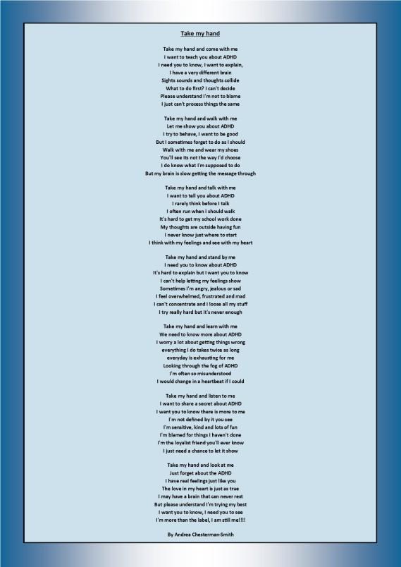 ADHD poem | ADHD Richmond