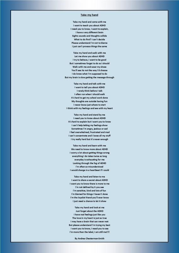 Can You Have Adhd And Still Be Good >> Adhd Poem Adhd Richmond Kingston