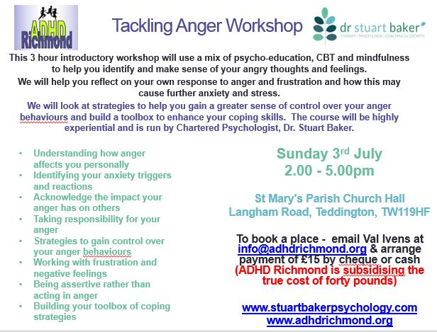 Are you angry with your #ADHD child? Attend July 3workshop