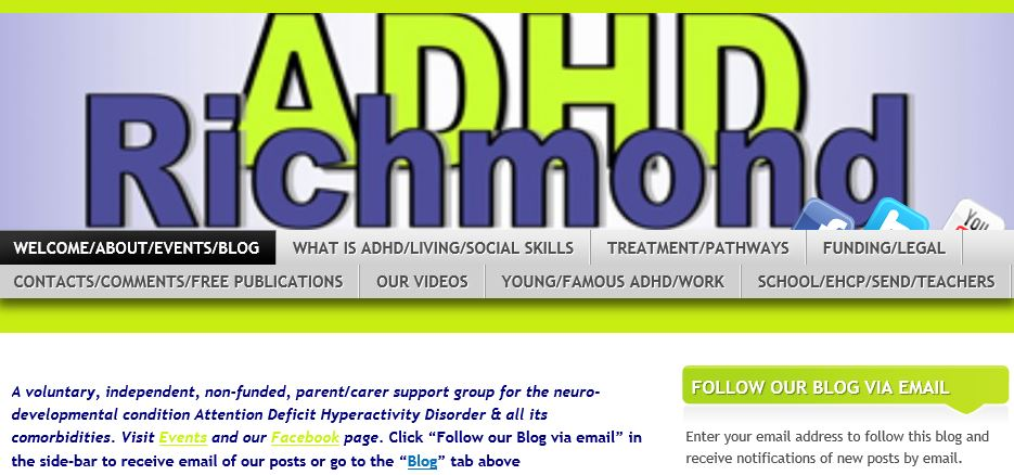 "On adhdrichmond.org click ""Follow our blog via email"" #ADHD"