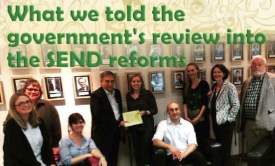 What @SpcialNdsJungle told @educationgovuk about #SENreform