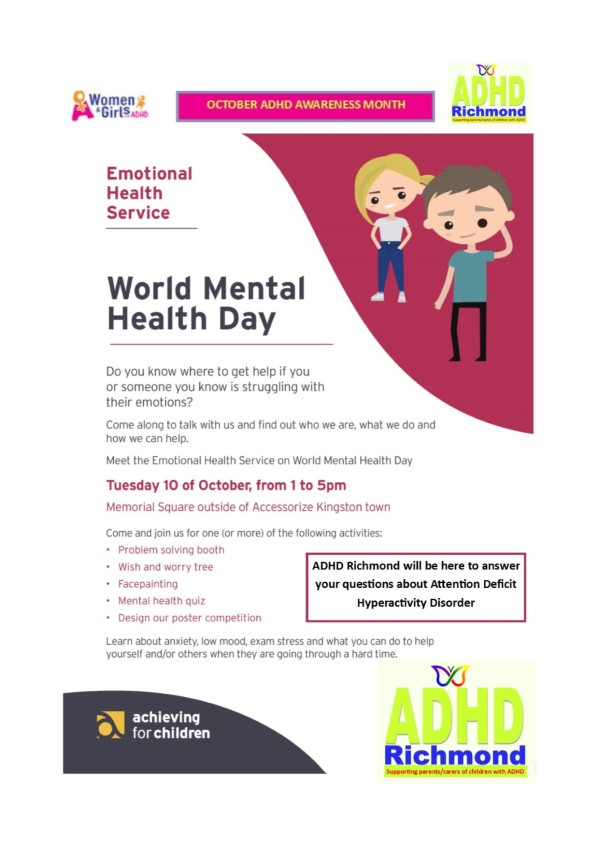 Mental Healh day - adhd richmond