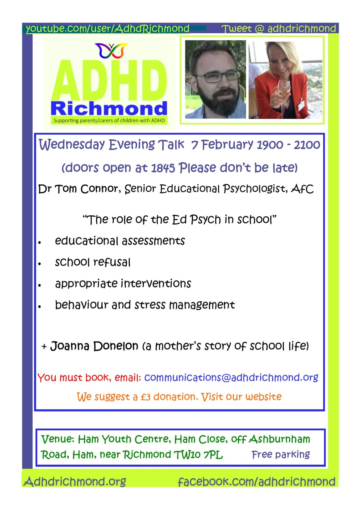 Feb 7 Talk - wed eve