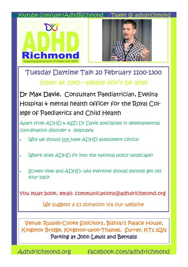 Feb 20 TALK Tuesday - daytime