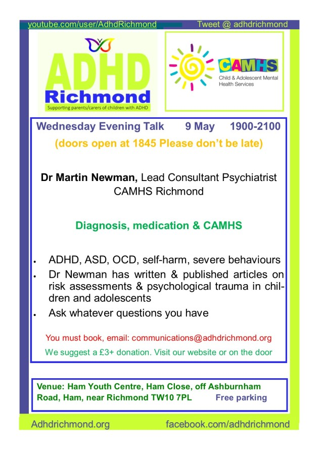 May 9 Wed evening talk