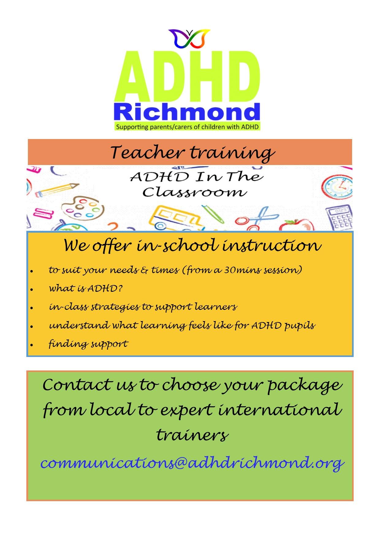 Teacher training flyer