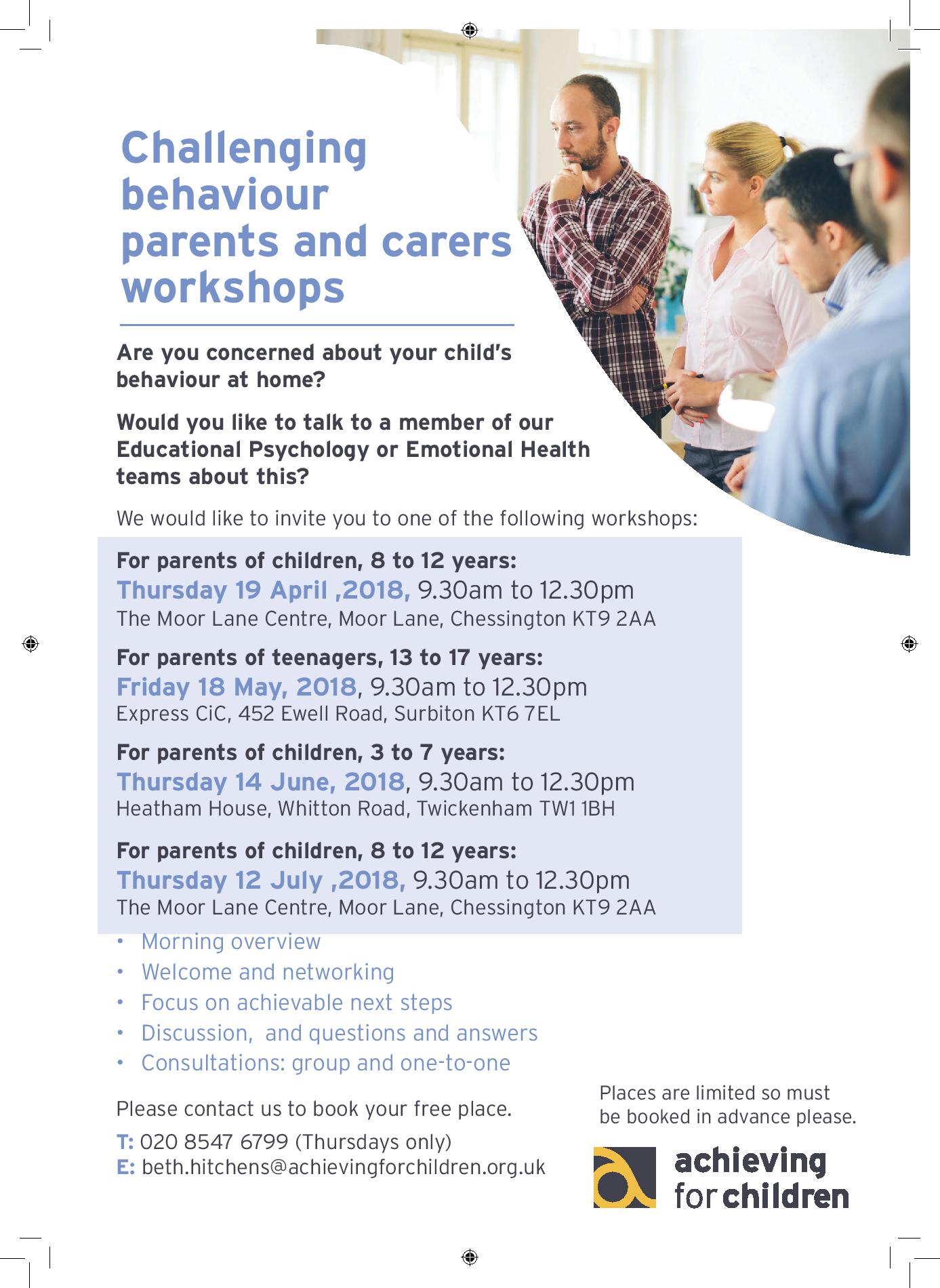 Challenging behaviour workshop poster April to July 2018-page-001