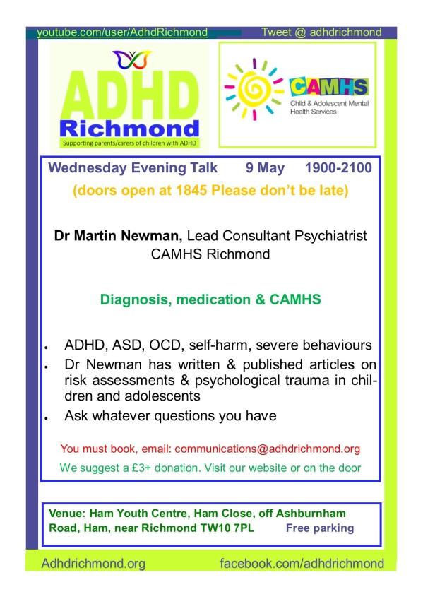May 9 Wed evening talk