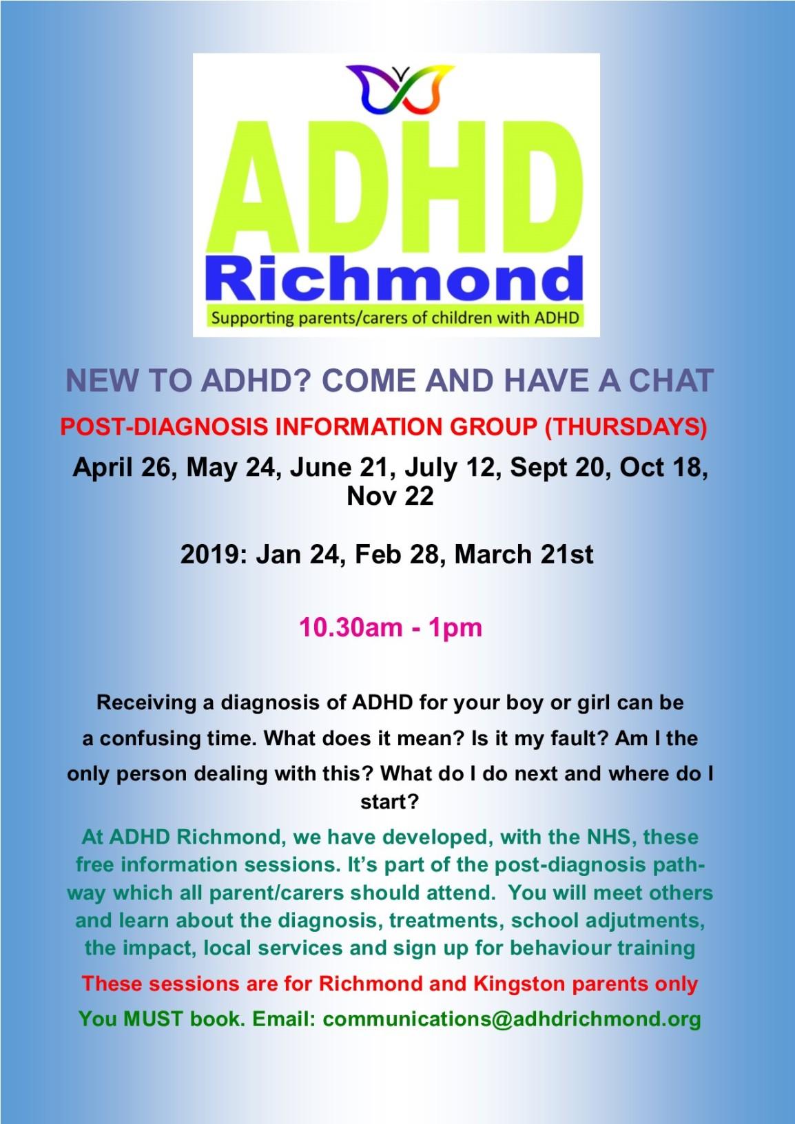 #ADHD post-diagnosis Apr 26. Thx @KingstonCCG@NHSRichmondCCG