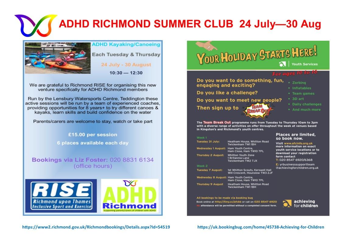 ADHD Richmond Summer Club